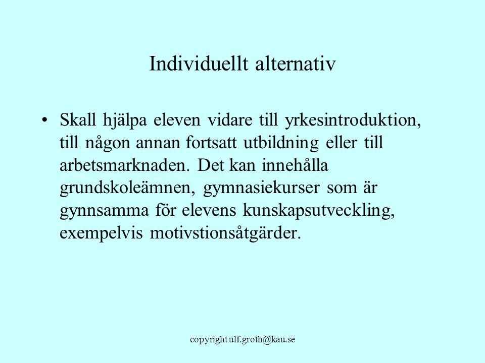 Individuellt alternativ