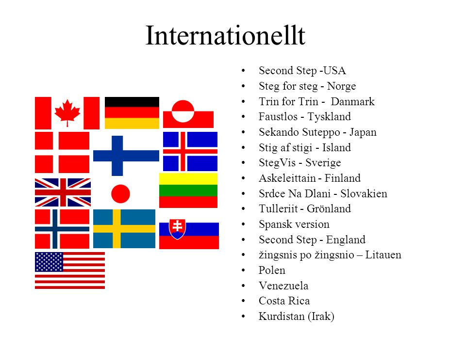 Internationellt Second Step -USA Steg for steg - Norge