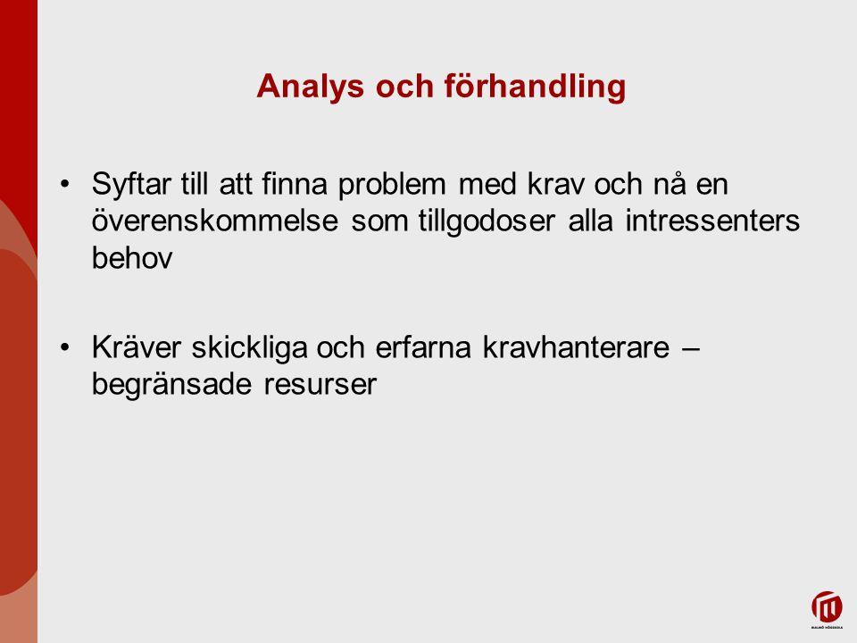 Analys och förhandling