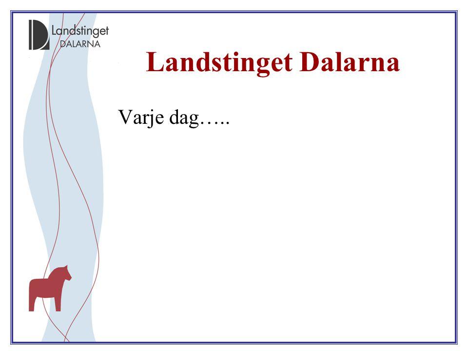 Landstinget Dalarna Varje dag…..