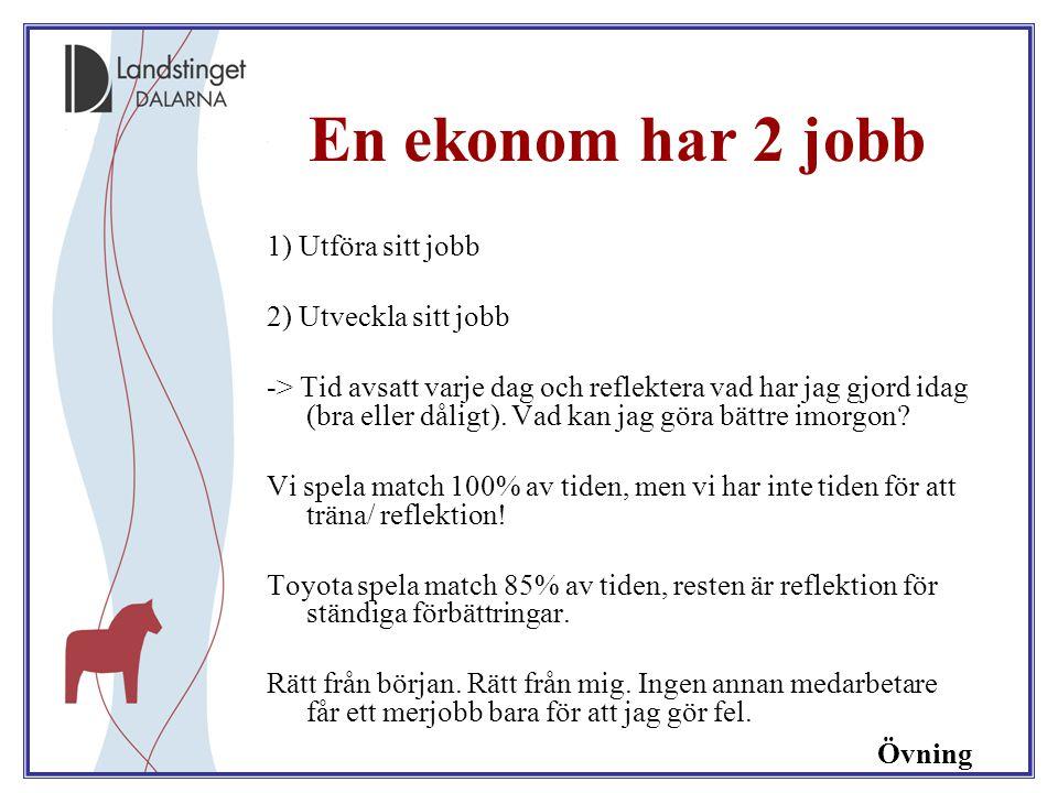 En ekonom har 2 jobb 1) Utföra sitt jobb 2) Utveckla sitt jobb