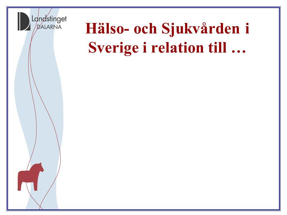 Hälso- och Sjukvården i Sverige i relation till …