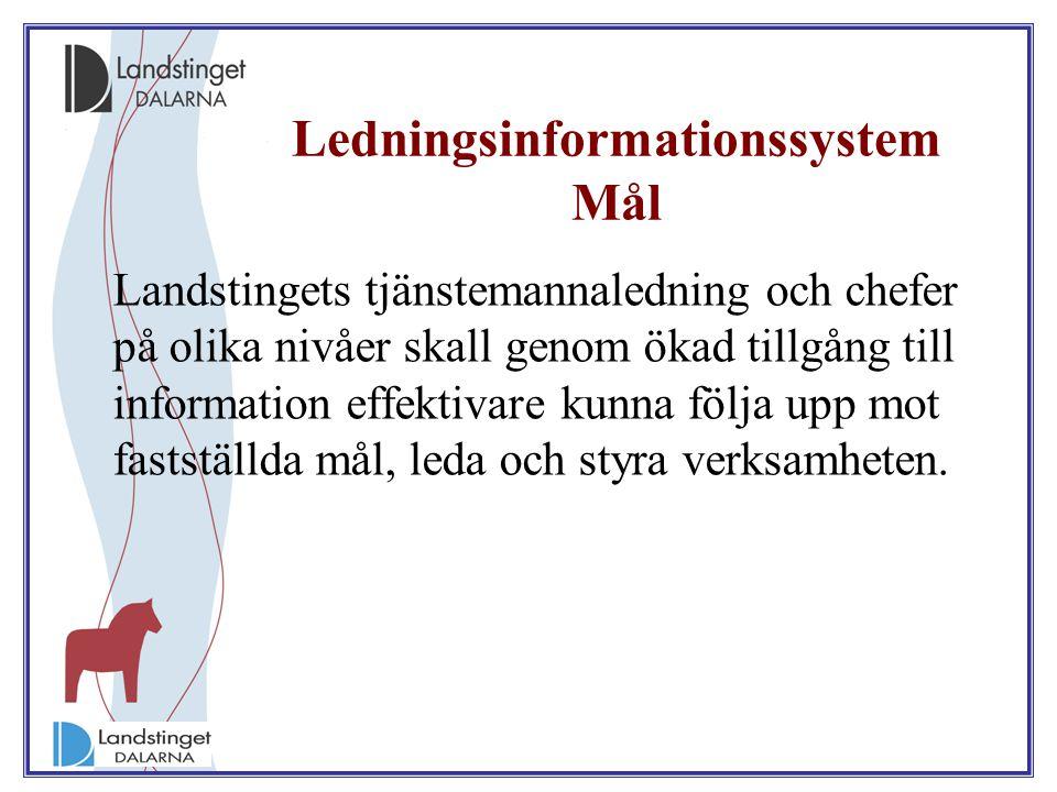 Ledningsinformationssystem Mål
