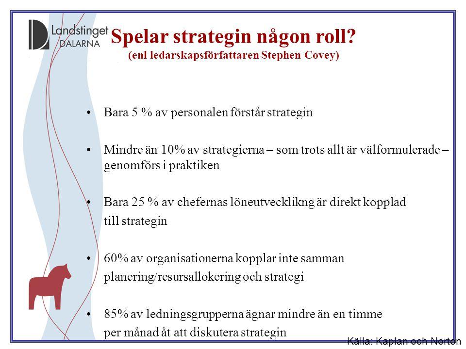 Spelar strategin någon roll (enl ledarskapsförfattaren Stephen Covey)