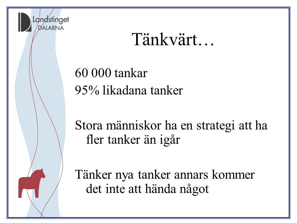 Tänkvärt… 60 000 tankar 95% likadana tanker