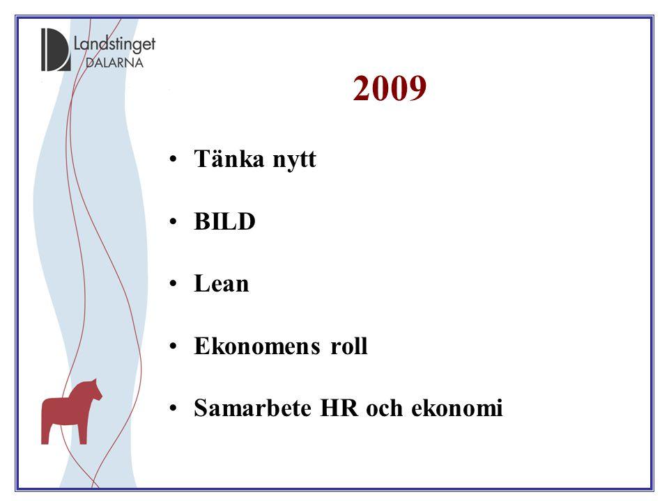 2009 Tänka nytt BILD Lean Ekonomens roll Samarbete HR och ekonomi