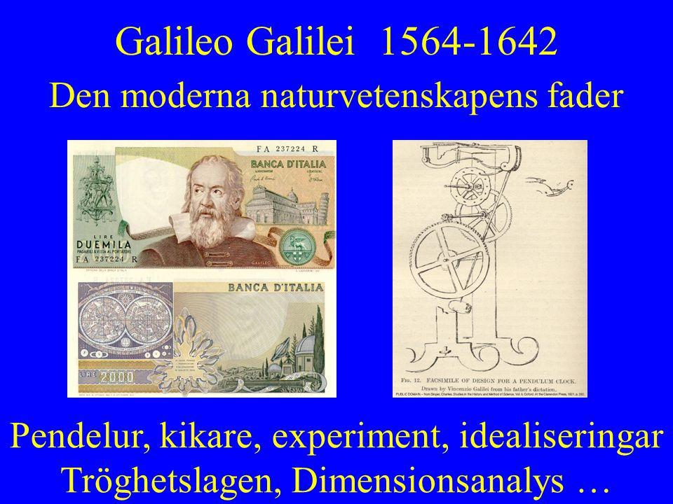 Galileo Galilei 1564-1642 Den moderna naturvetenskapens fader