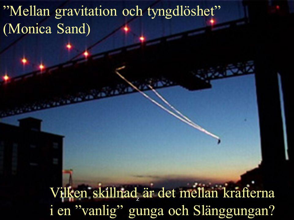 Mellan gravitation och tyngdlöshet (Monica Sand)
