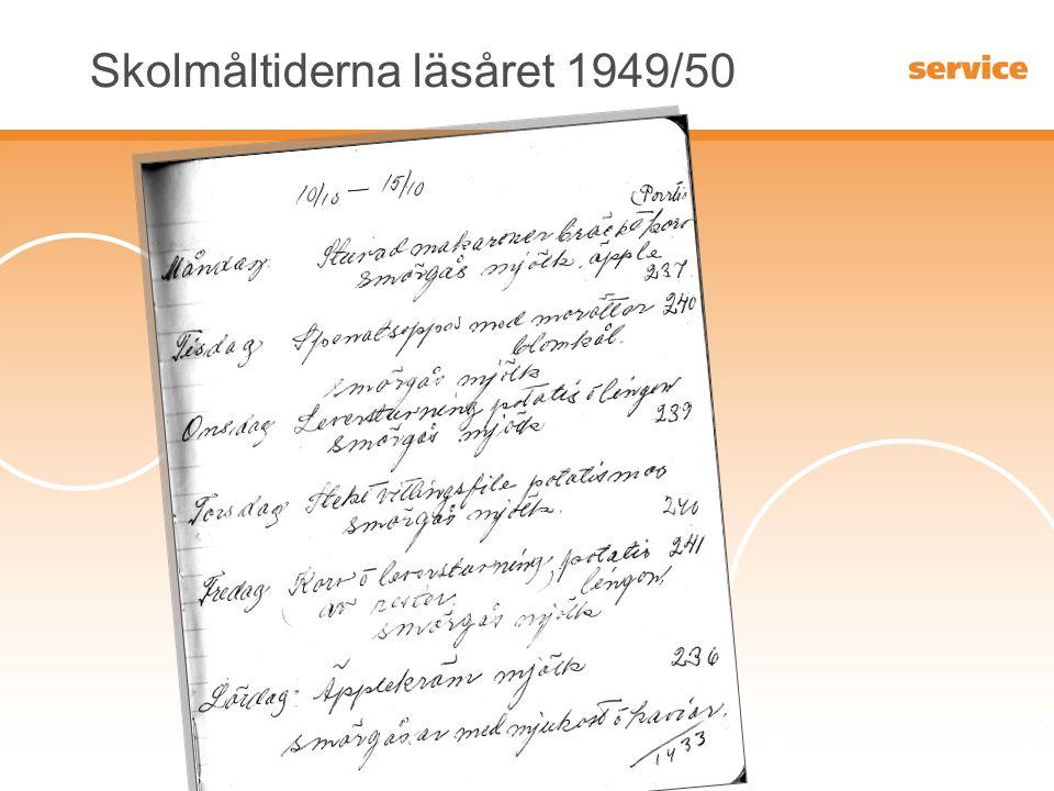 Skolmåltiderna läsåret 1949/50