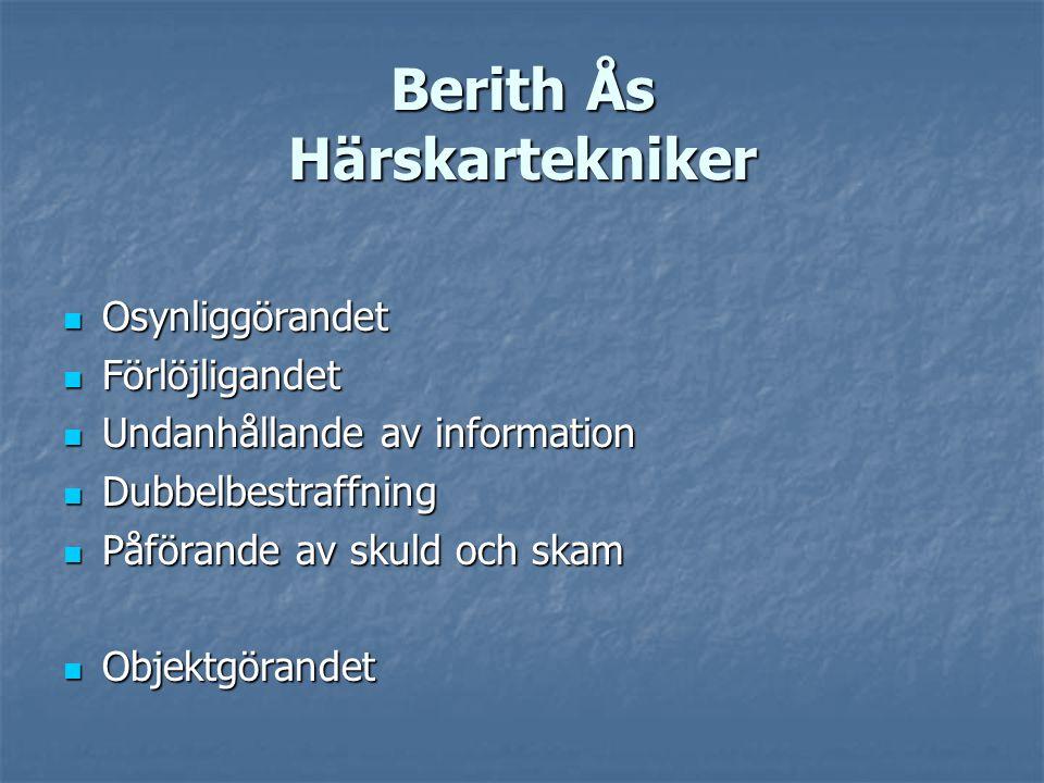 Berith Ås Härskartekniker