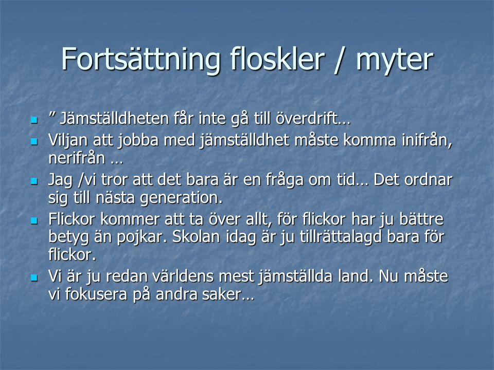 Fortsättning floskler / myter