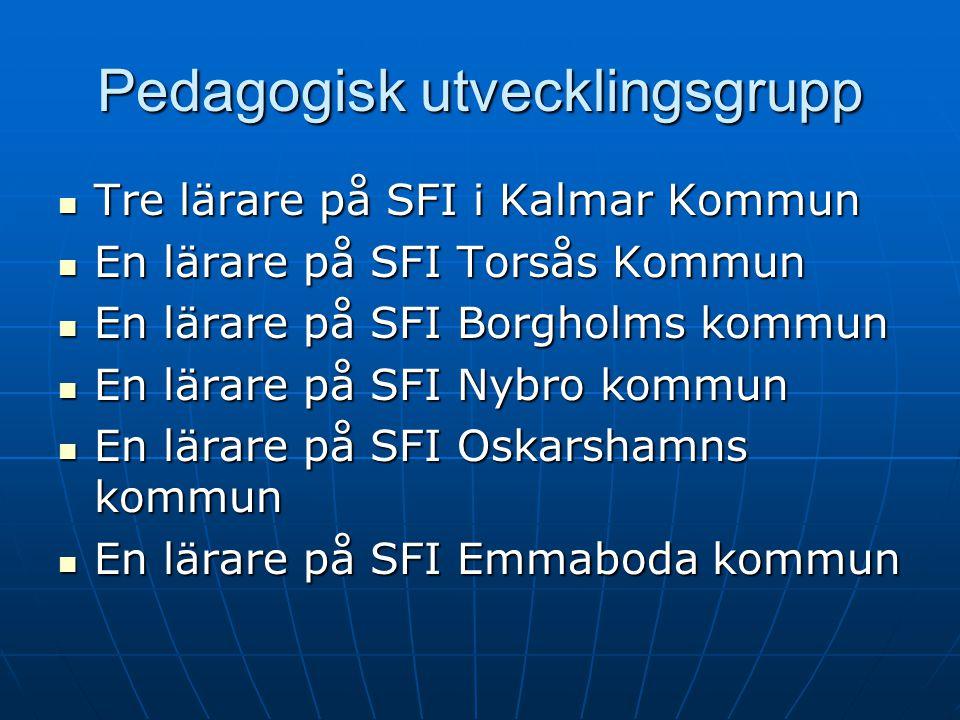 Pedagogisk utvecklingsgrupp