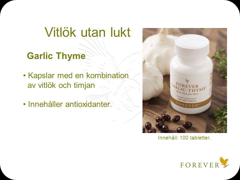 Vitlök utan lukt Garlic Thyme Kapslar med en kombination
