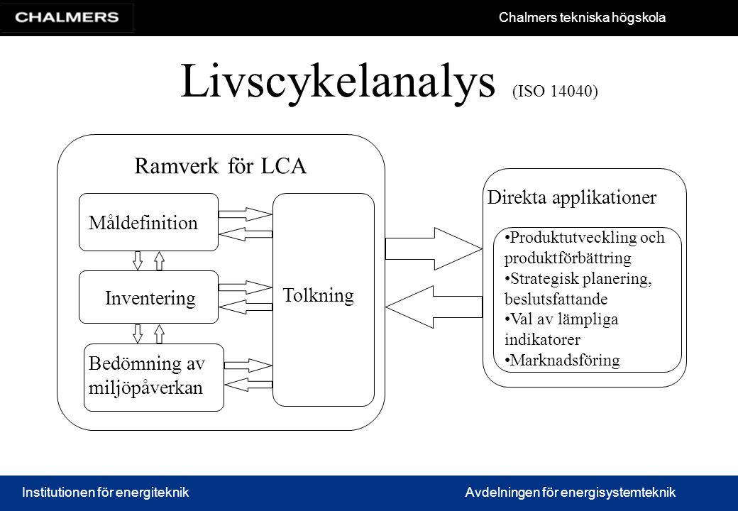 Livscykelanalys (ISO 14040)