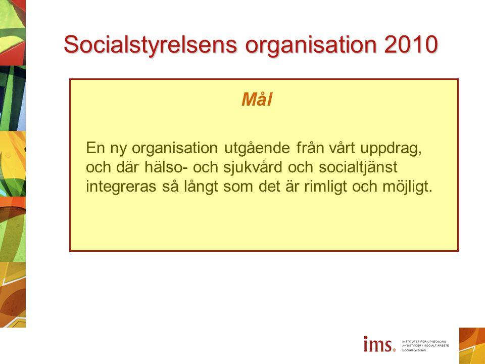 Socialstyrelsens organisation 2010