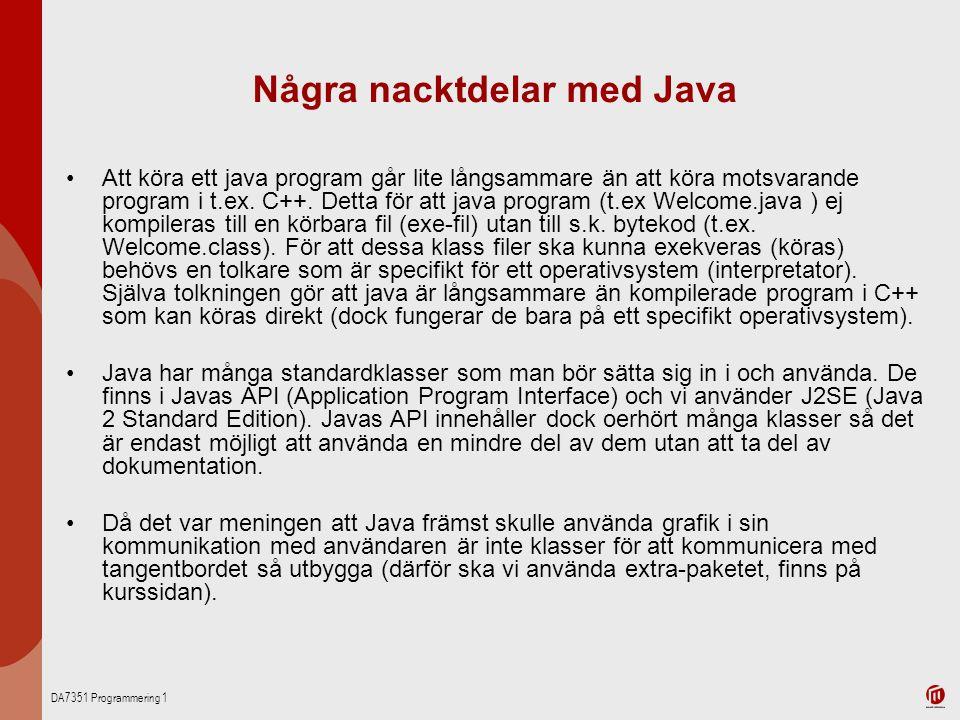 Några nacktdelar med Java