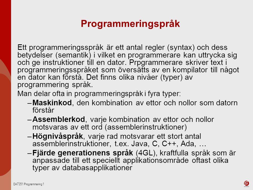 Programmeringspråk