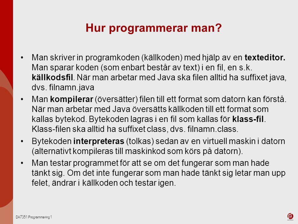 Hur programmerar man