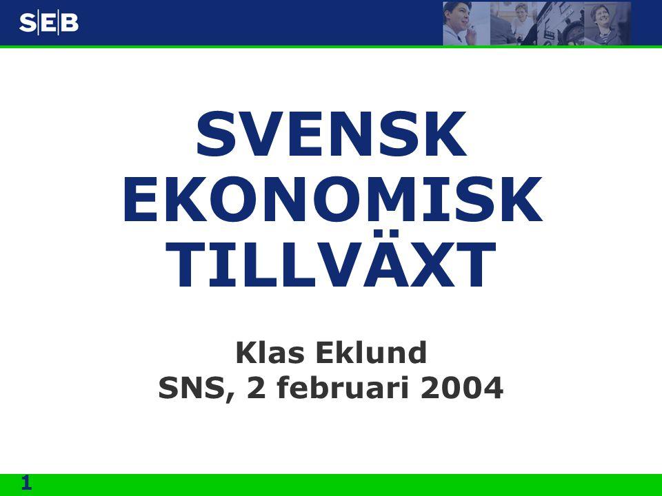 SVENSK EKONOMISK TILLVÄXT