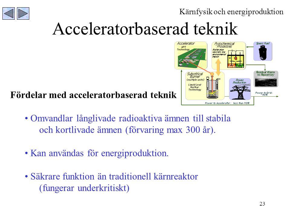 Acceleratorbaserad teknik