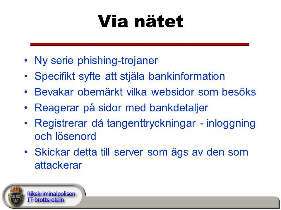 Via nätet Ny serie phishing-trojaner
