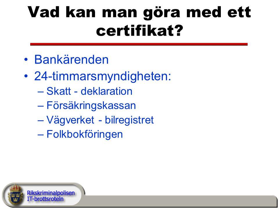 Vad kan man göra med ett certifikat