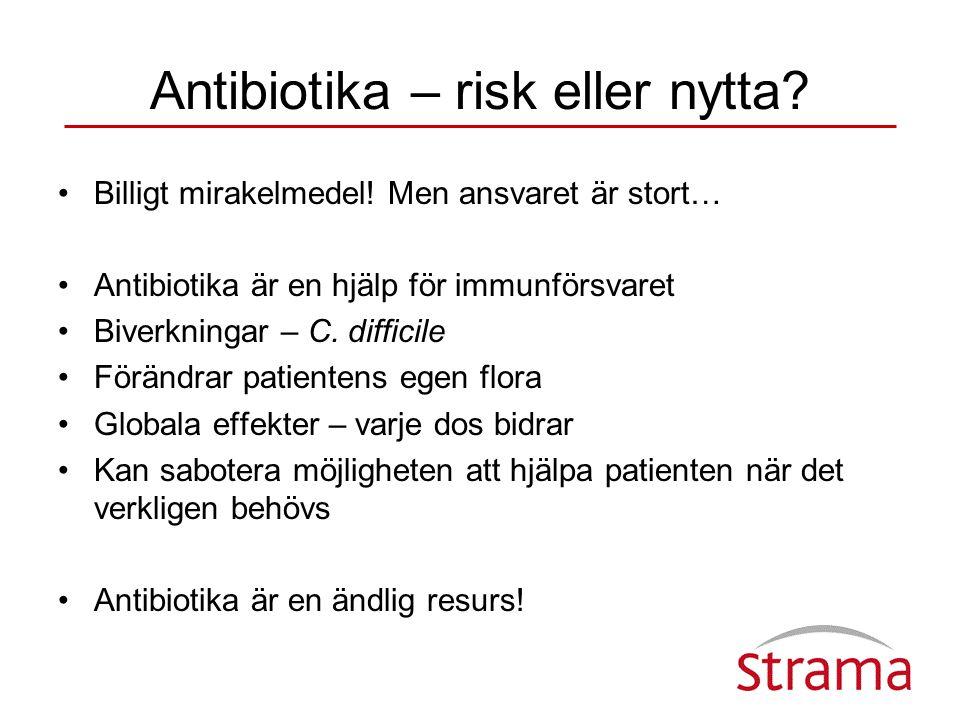 Antibiotika – risk eller nytta