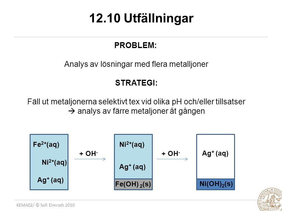 Analys av lösningar med flera metalljoner