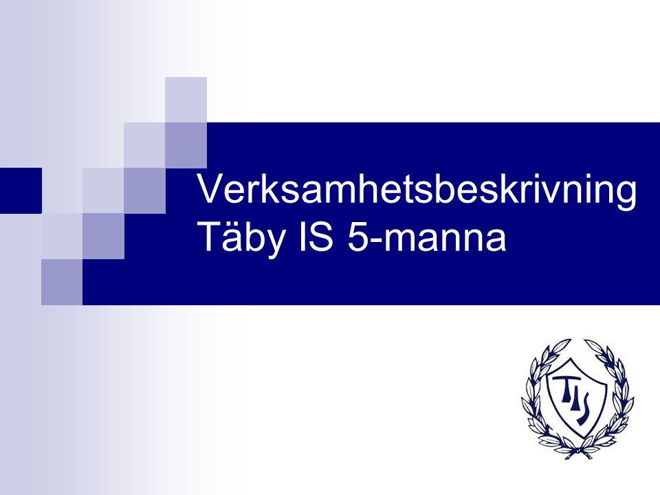 Verksamhetsbeskrivning Täby IS 5-manna