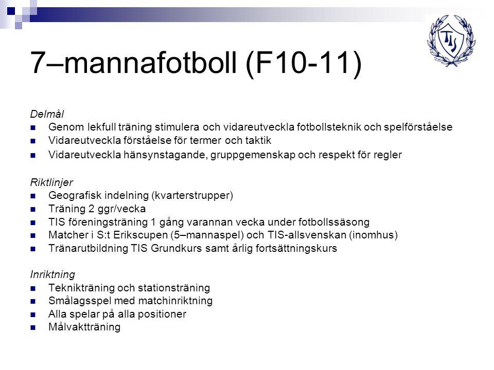 7–mannafotboll (F10-11) Delmål