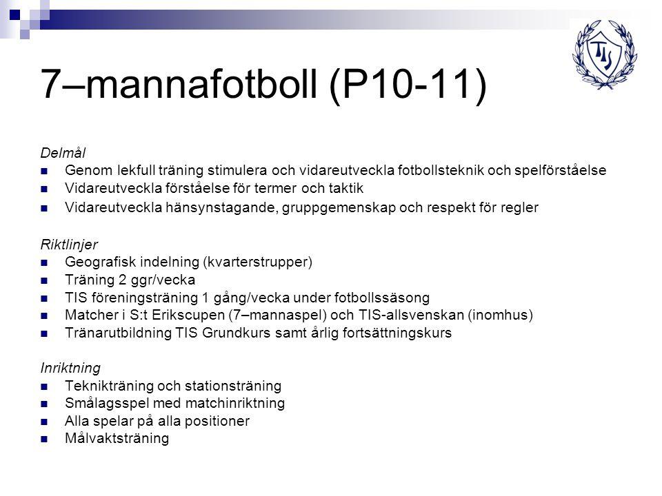 7–mannafotboll (P10-11) Delmål