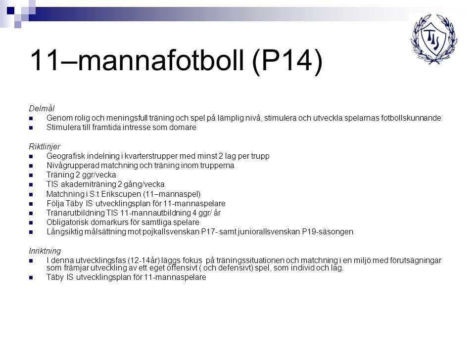 11–mannafotboll (P14) Delmål