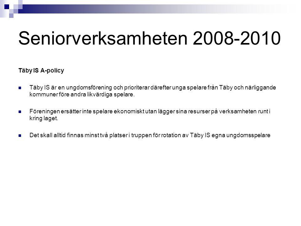 Seniorverksamheten 2008-2010 Täby IS A-policy