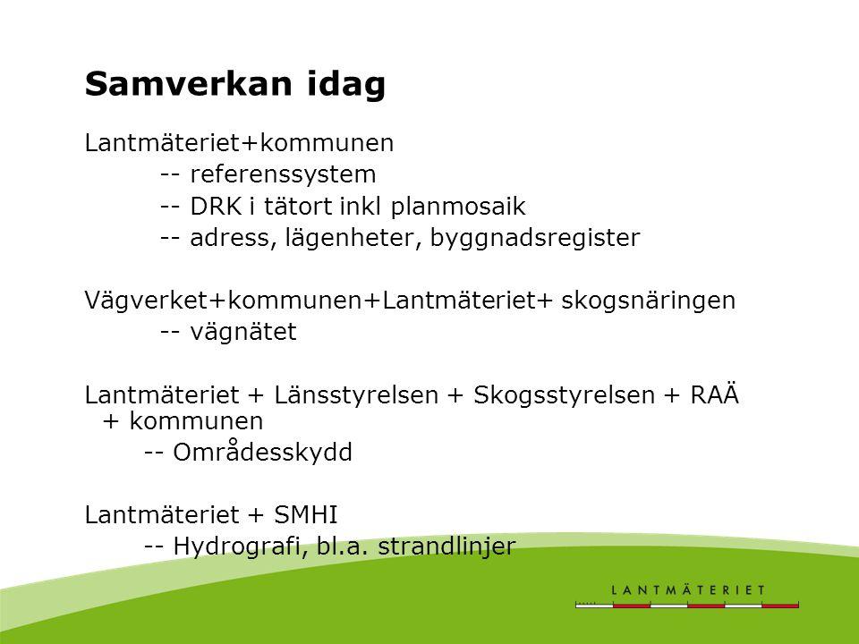 Samverkan idag Lantmäteriet+kommunen -- referenssystem