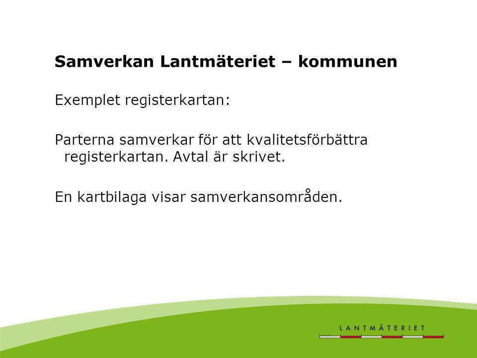 Samverkan Lantmäteriet – kommunen