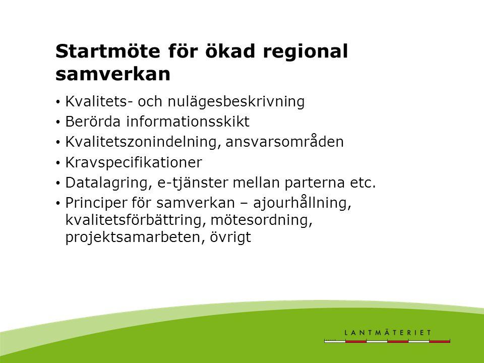 Startmöte för ökad regional samverkan