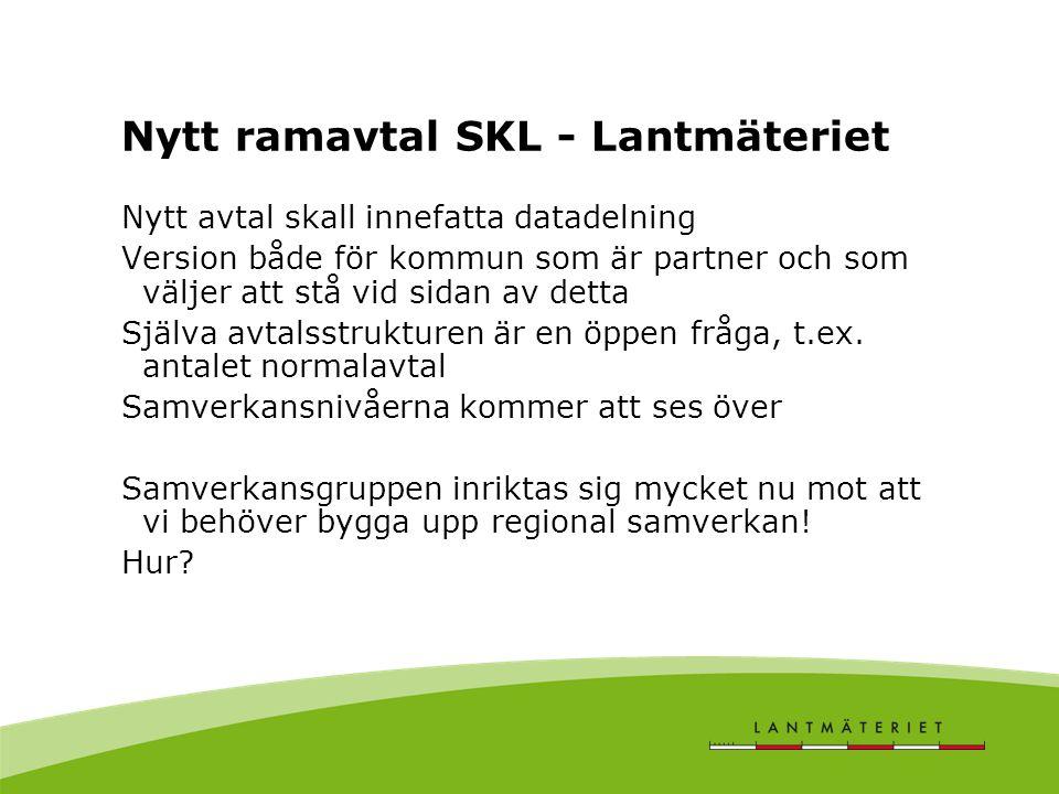 Nytt ramavtal SKL - Lantmäteriet