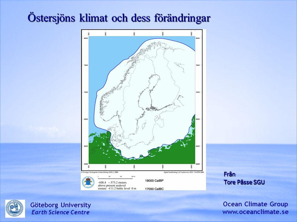 Östersjöns klimat och dess förändringar
