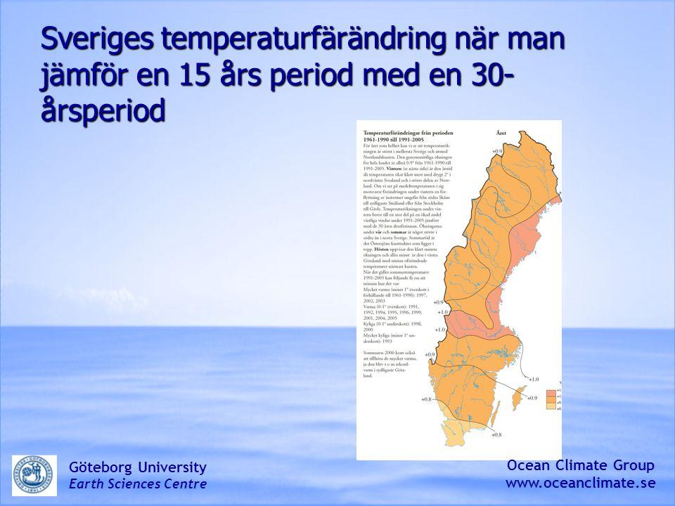 Sveriges temperaturfärändring när man jämför en 15 års period med en 30-årsperiod