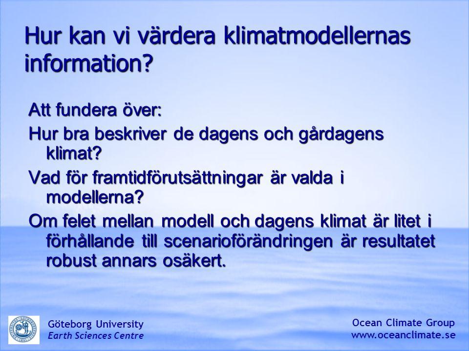 Hur kan vi värdera klimatmodellernas information