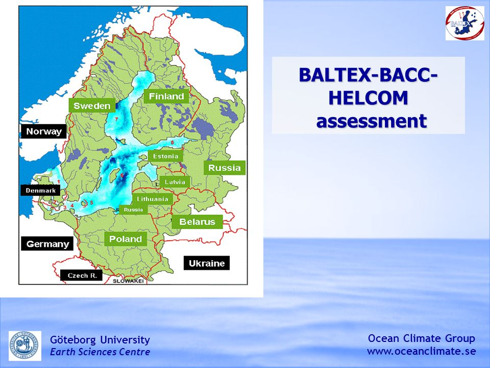 BALTEX-BACC-HELCOM assessment