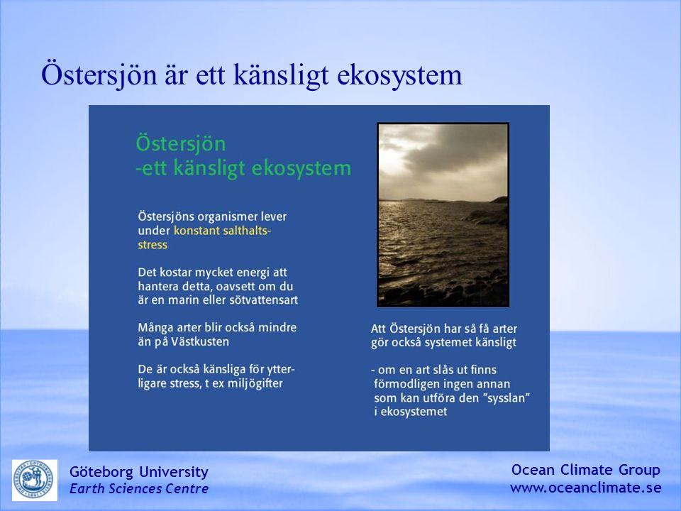 Östersjön är ett känsligt ekosystem