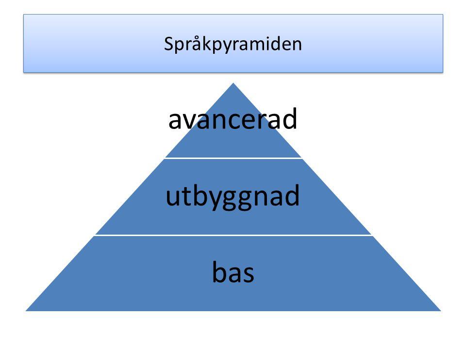 Språkpyramiden avancerad utbyggnad bas