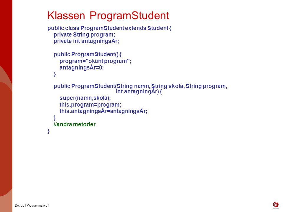 Klassen ProgramStudent