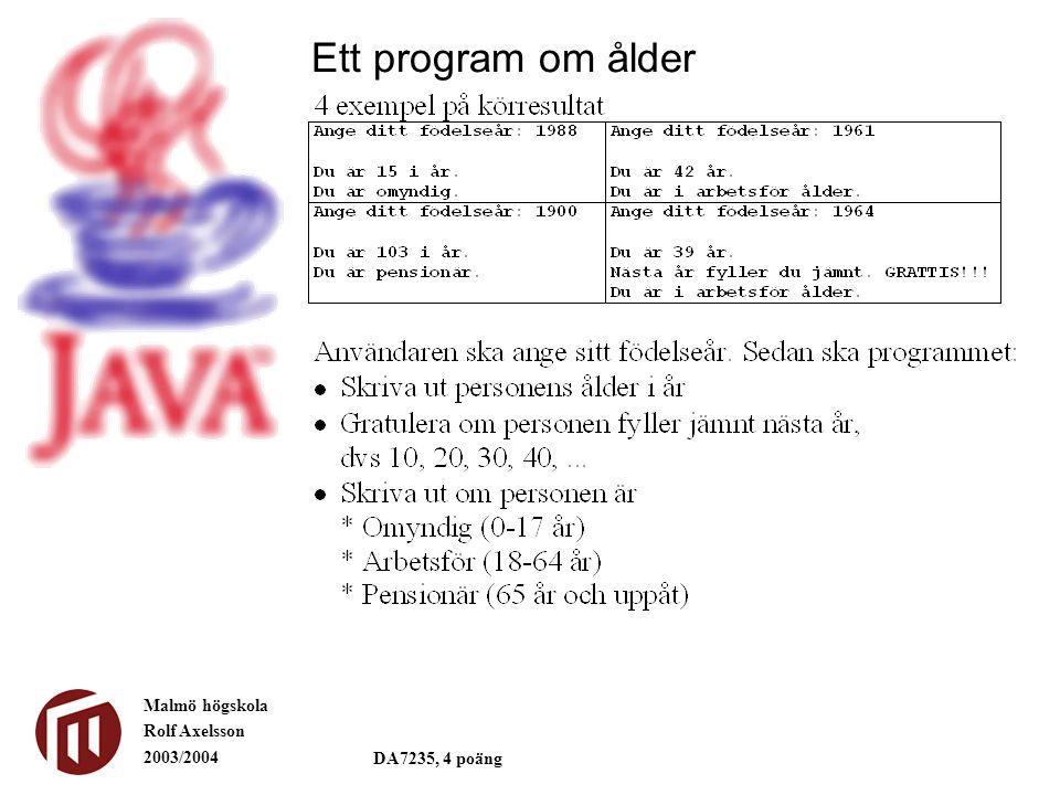 Ett program om ålder
