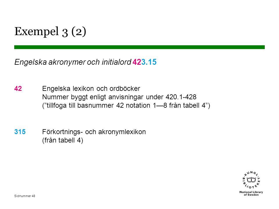 Exempel 3 (2) Engelska akronymer och initialord 423.15