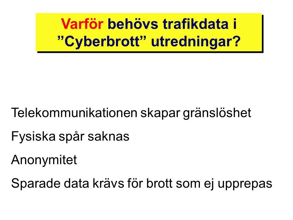 Varför behövs trafikdata i Cyberbrott utredningar
