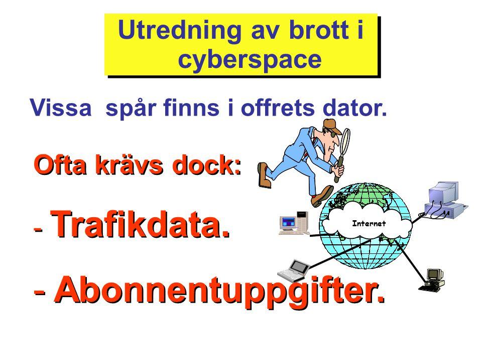 Utredning av brott i cyberspace