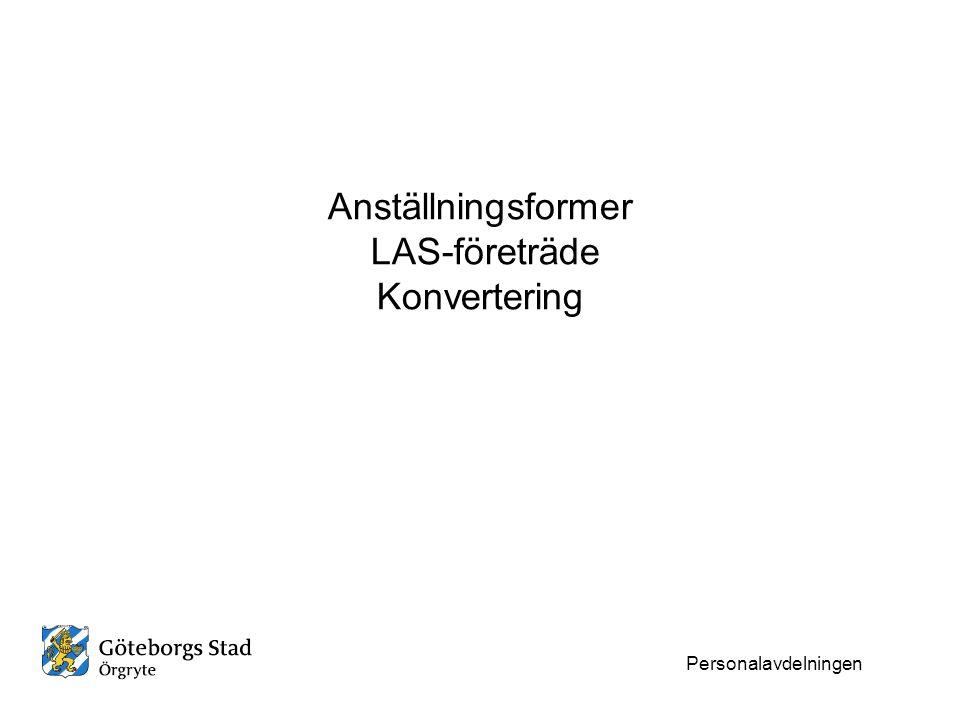 Anställningsformer LAS-företräde Konvertering