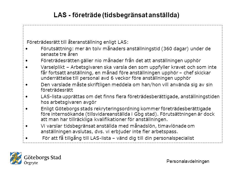 LAS - företräde (tidsbegränsat anställda)